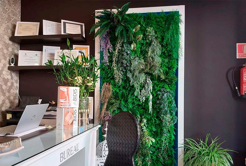 Decora tus paredes con un jardín vertical artificial