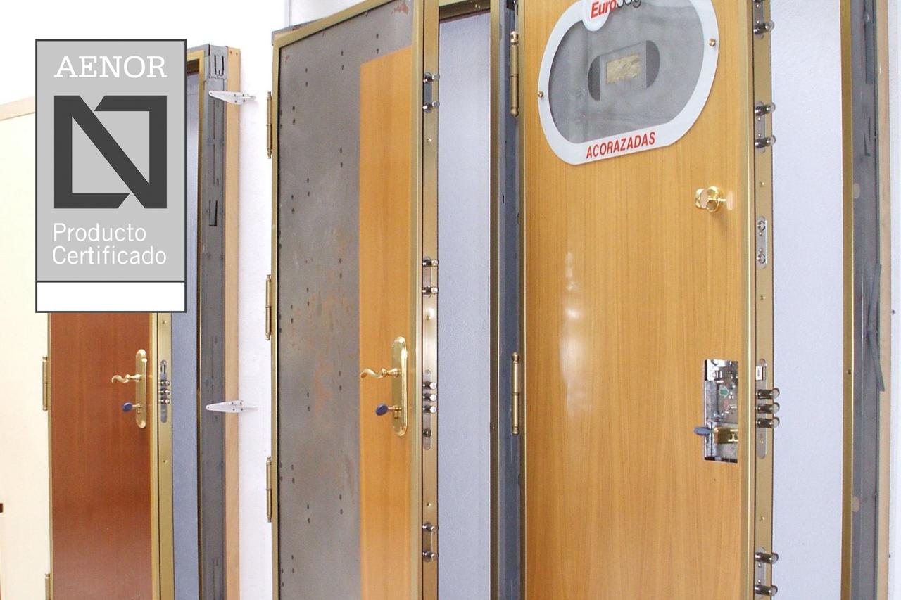 puertas acorazadas AENOR