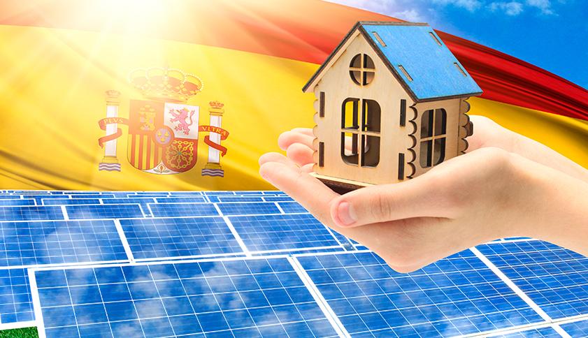 Las placas solares generan energia para las viviendas