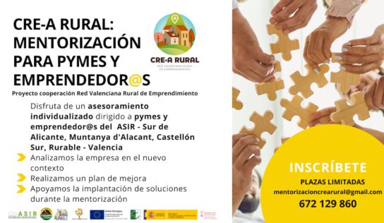 CRE-A Rural abre la inscripción al programa de asesoramiento empresarial